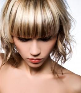 Глянцевая укладка волос