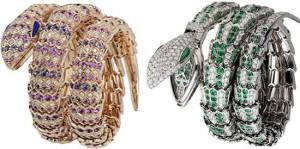 Змеевидный браслет и кольца